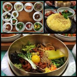 Joseph (@Allophile) of the USA showed off this delightful spread of bibimbap from his recent trip to Korea: https://twitter.com/Allophile/status/483690012538437633/photo/1