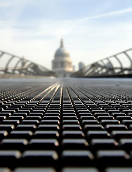 Paul Caddy (@PaulSCaddy) found the Millennium Bridge in his native UK unusually empty, and took advantage of the moment with this unique close-up: http://t.co/5To53uLq9A