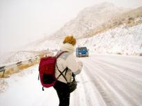 Rosie (@WanderingRosie) of Armenia went on a short bus ride that turned into an 8-hour hitchhiking-in-a-snowstorm story: https://twitter.com/WanderingRosie/status/496375727810297858/photo/1