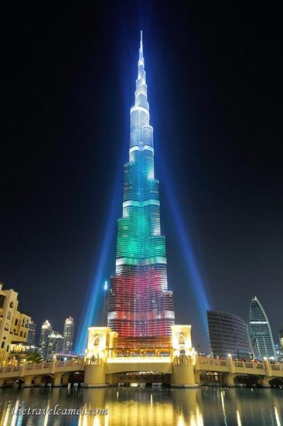 Today's perfectly centered landmark photo is brought to you by co-host Shane Dallas (@TheTravelCamel), currently in Romania, of Dubai's tallest building: https://twitter.com/TheTravelCamel/status/481152696662368261/photo/1