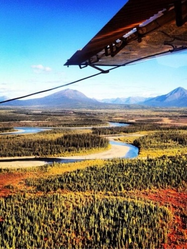 Shannon Croom (@ShannonCroom) of the USA got this while flying over remote Alaska: http://t.co/w4W8B69YPv