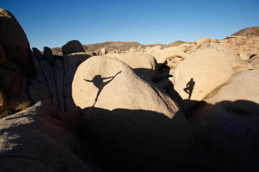 """Victor (@victreks) of the USA captured this """"shadow ballet"""" photo of the two of us while on a recent trip in California. Balancing atop those steep rocks wasn't easy! pic.twitter.com/kJwlzcFRMl"""