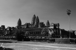 Angkor Wat, shot in black and white, with not a person in sight. Eerie, no?