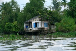 A lonely house on a southern Vietnamese river