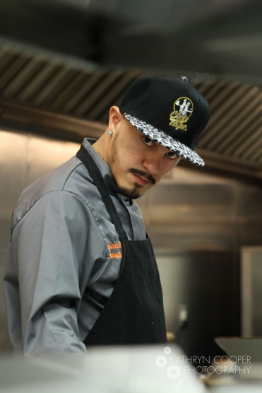 Chef De Jesus gives an intimidating stare in the kitchen