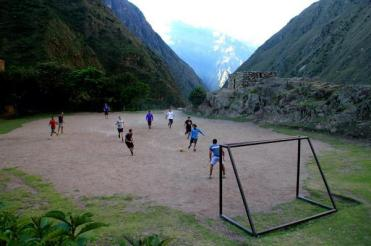 Ayla (@MrsAylaAdvnture) of the UK showed a not-so-normal soccer field in the mountains of Peru: https://twitter.com/MrsAylaAdvnture/status/498919788601958400/photo/1