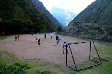 Ayla (@MrsAylaAdvnture) of the UK showed a not-so-normal soccer field in the mountains of Peru: https://twitter.com/MrsAylaAdvnture/status/498919788601958400/photo/1