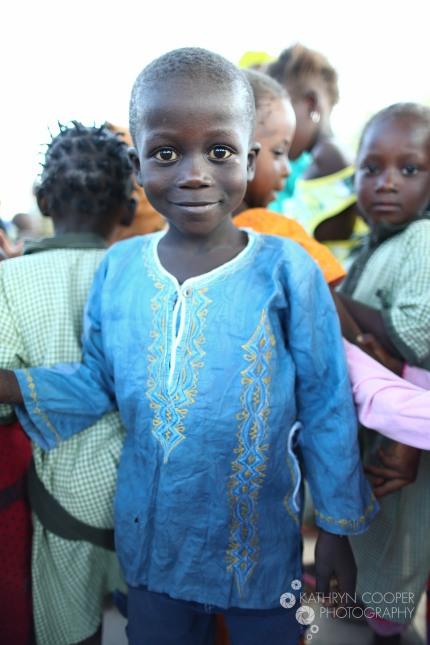 An adorable village boy