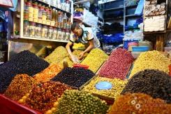 Arranging olives near Casablanca