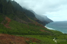 A misty day on the Na Pali coast